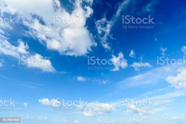 Photo of Blue sky with cloud,summer sky,nature background