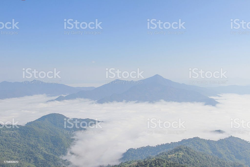 blue sky  with doiphatang northeast chiangrai thailand royalty-free stock photo