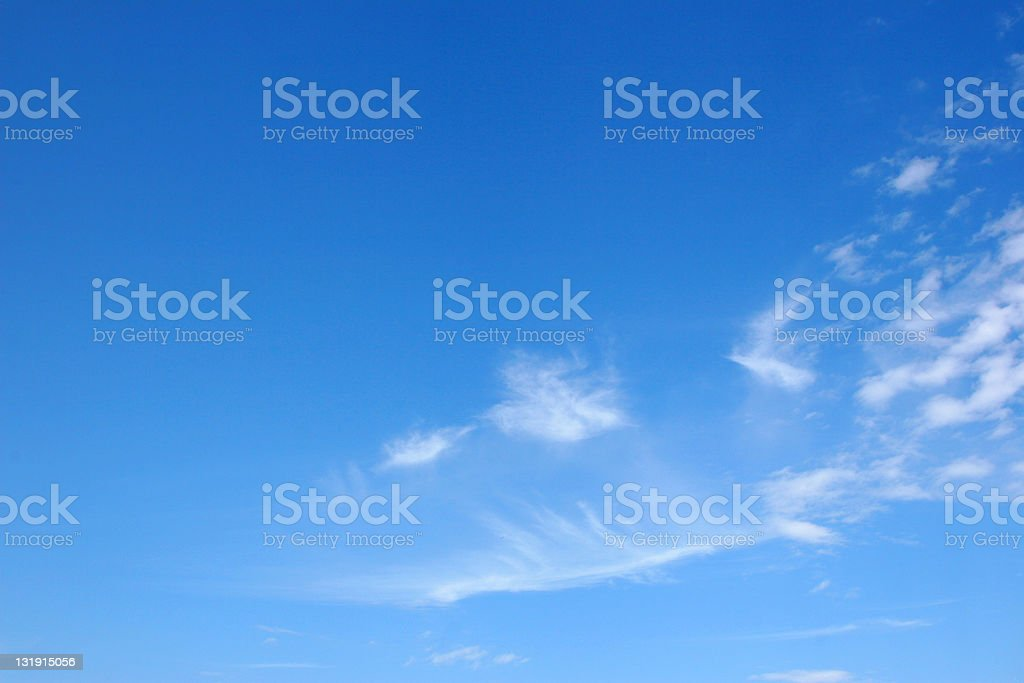 Blue sky with light clouds royalty-free stock photo