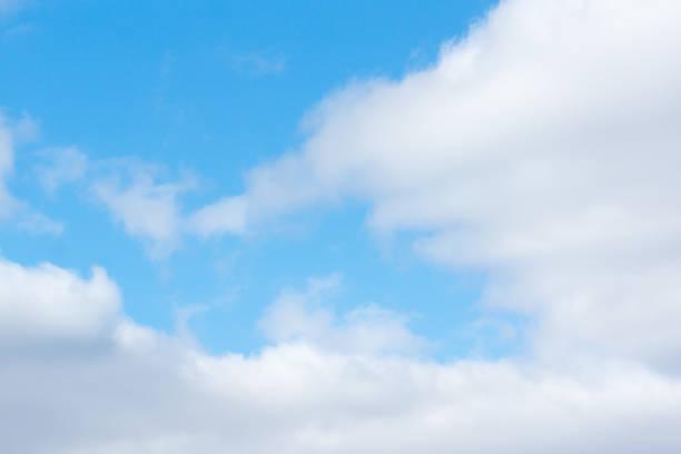 blue sky with light white clouds – zdjęcie