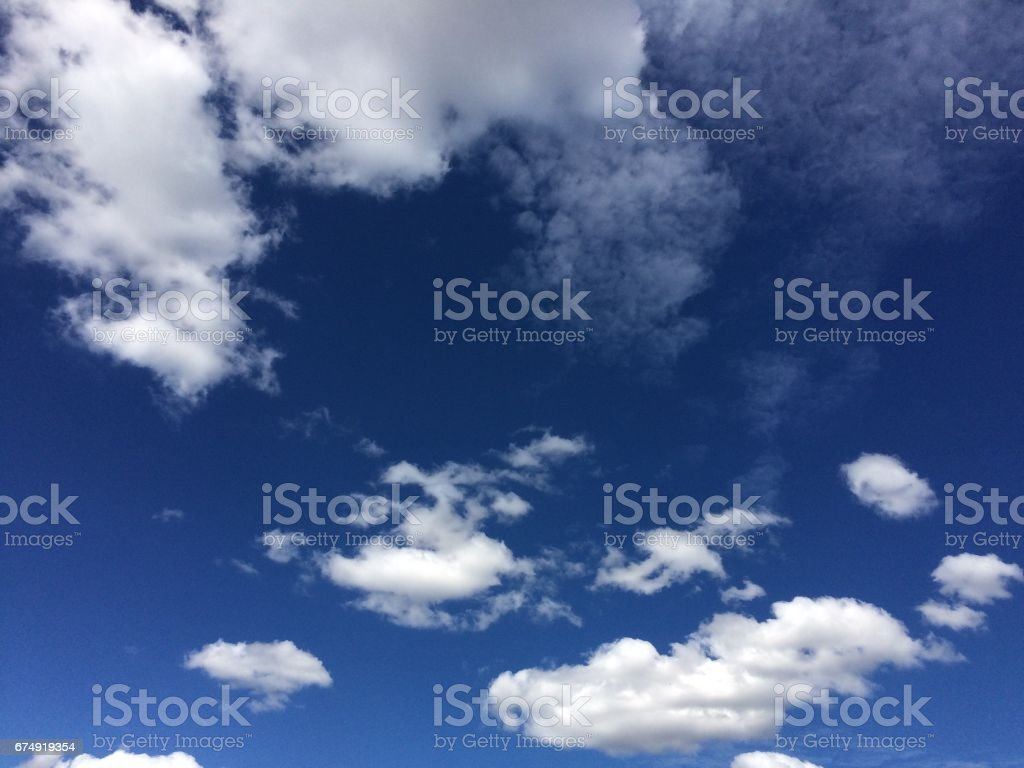 blue sky with many clouds royalty-free stock photo