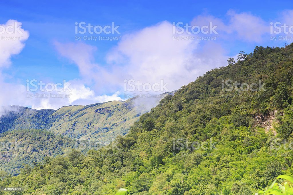 blue sky with mountain at chaingmai thailand royalty-free stock photo