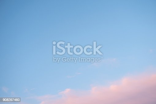 807443942 istock photo Blue sky with pink clouds 908267460