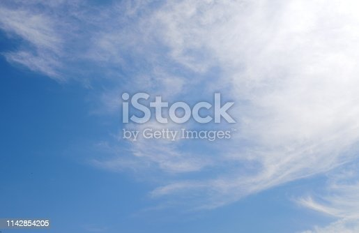 1050778746 istock photo Blue sky with scattered clouds 1142854205