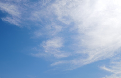 1010238190 istock photo Blue sky with scattered clouds 1142854205