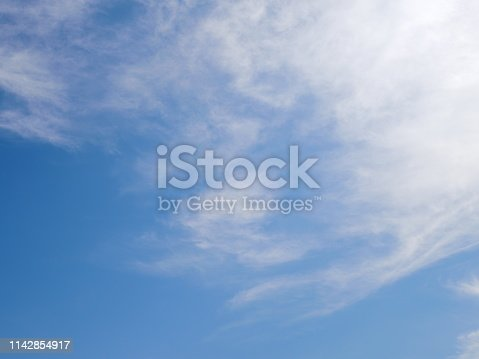 1050778746 istock photo Blue sky with scattered clouds 1142854917