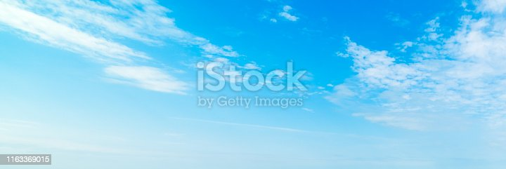 Blue sky with small clouds in summertime