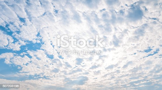 157673091istockphoto blue sky with sun and beautiful clouds 507203198