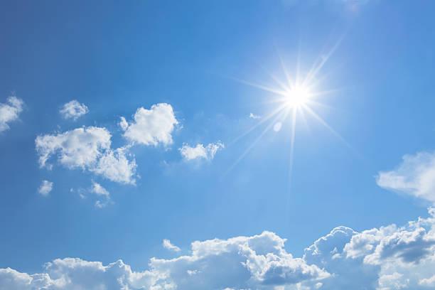 blue sky with sun - sun bildbanksfoton och bilder