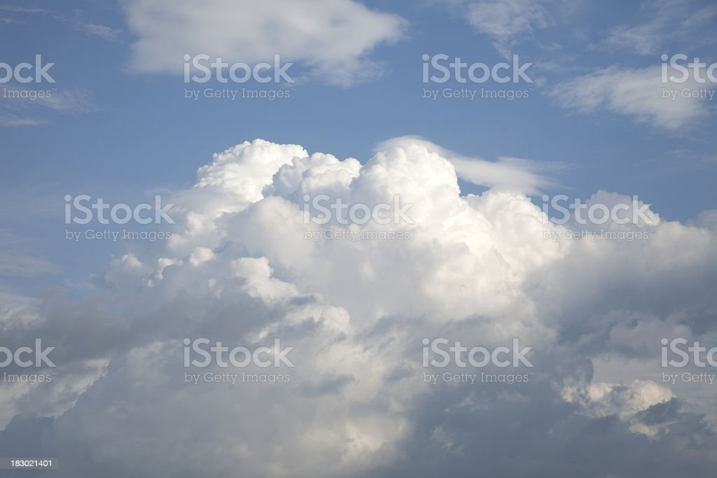 Blue Sky with Thunderheads stock photo