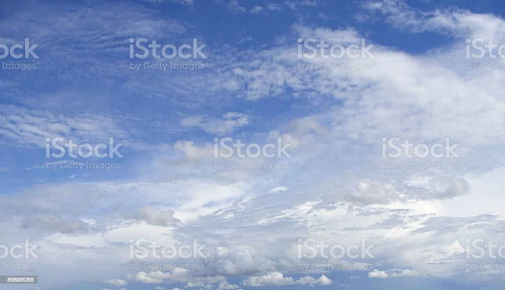 blue sky with various clouds royalty-free stock photo