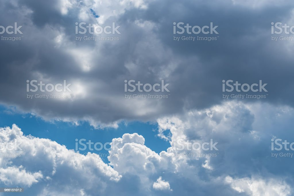 Blue sky with white clouds background - Royalty-free Atmosphere Stock Photo