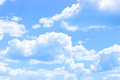 White cloud border, weather meteo frame realistic vector illustration. Fluffy cirrus cumulus cloud, isolated on transparent background. Realistic element, weather banner