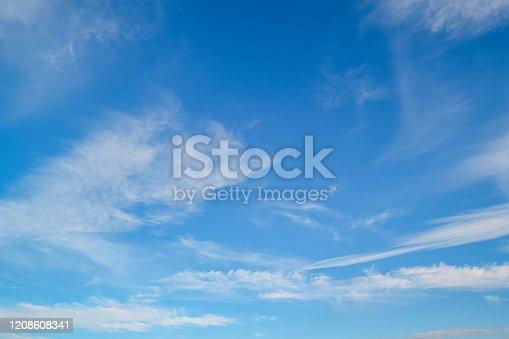 Blue sky with white clouds, Prague, Czech Republic