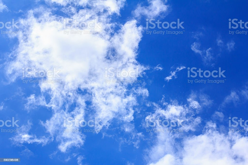 Blue sky with white clouds. royaltyfri bildbanksbilder
