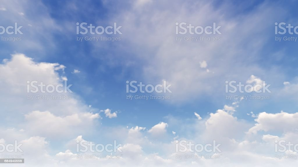 blue sky with white clouds Lizenzfreies stock-foto