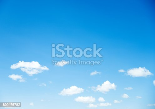istock Blue sky with white clouds 802476782