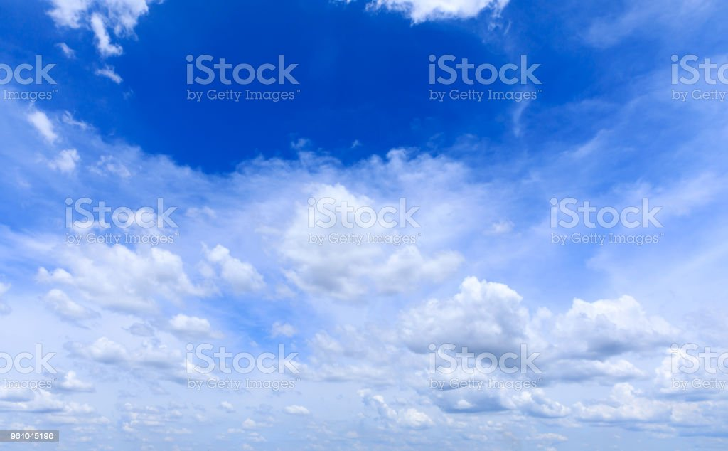 Blue sky with white clouds. - Royalty-free Beauty Stock Photo