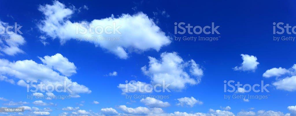 Blue Sky XXL cloudscape panorama royalty-free stock photo