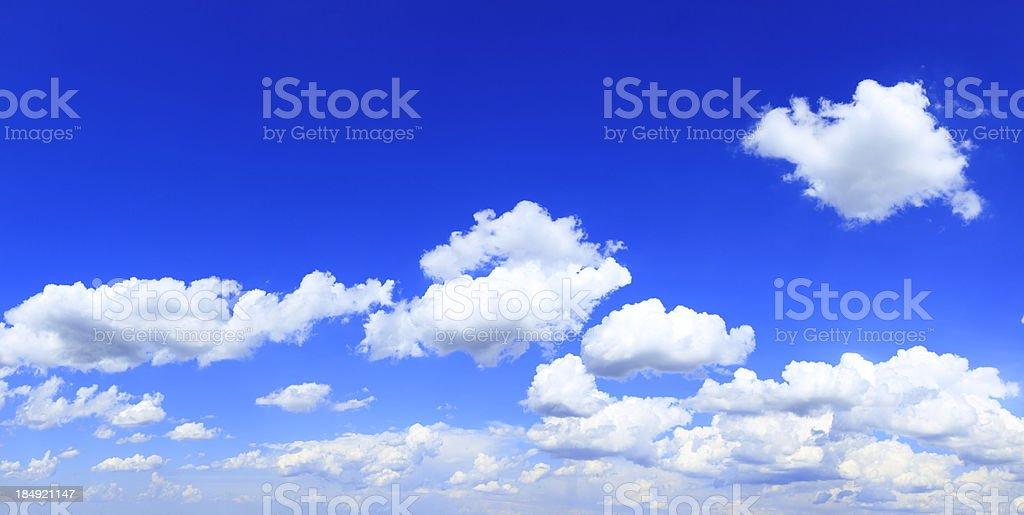 Blue Sky - XXXL Cloudscape Panorama royalty-free stock photo