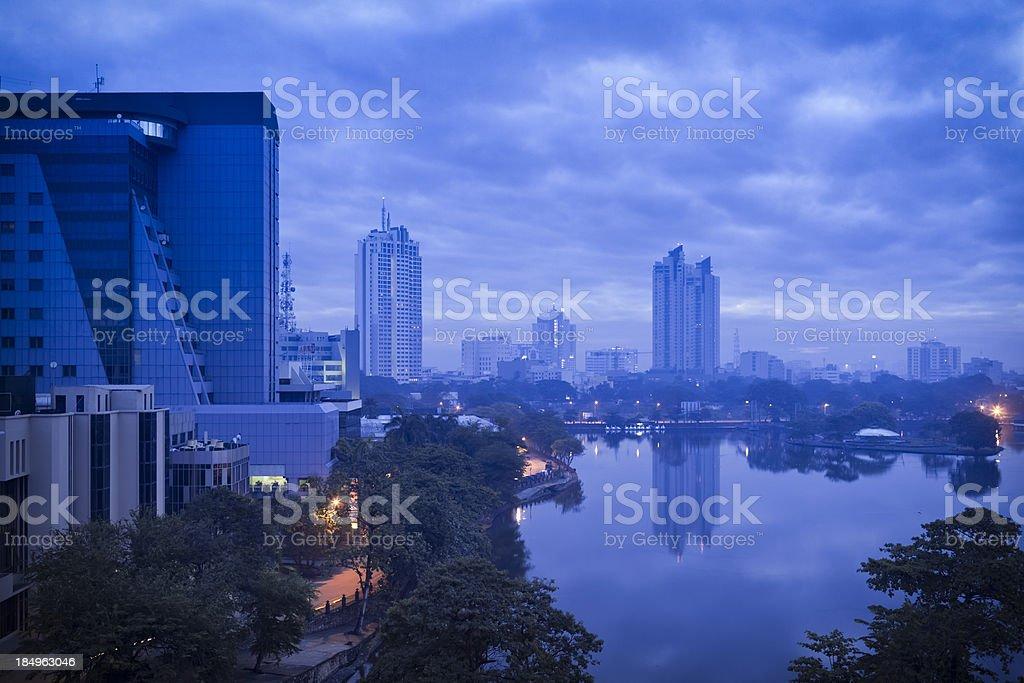 Blue Skyline of Colombo stock photo