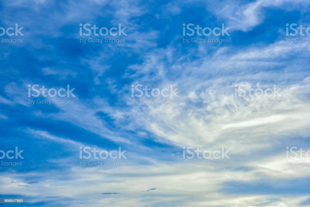 blue skys and cloud stock photo