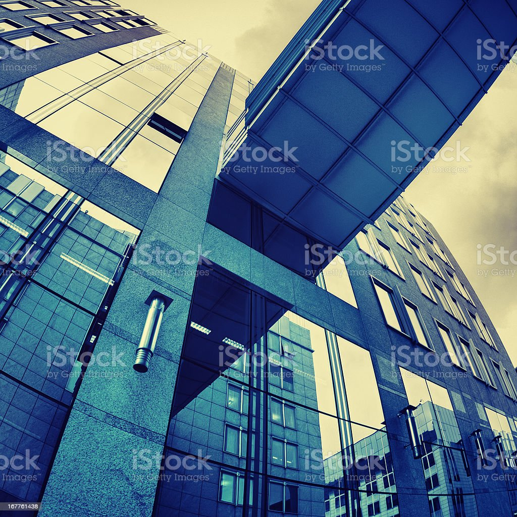 Blue skyscraper - HDR royalty-free stock photo