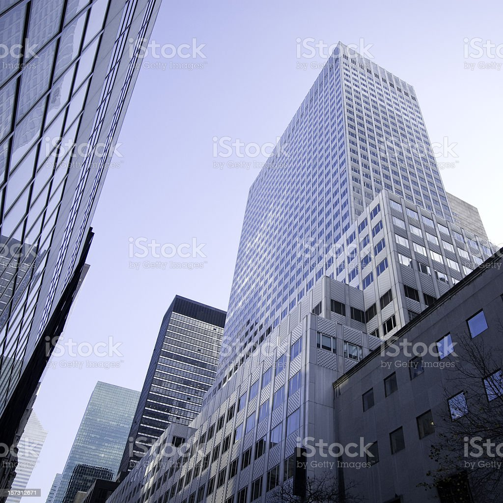Blue Skyscrapers - NYC royalty-free stock photo
