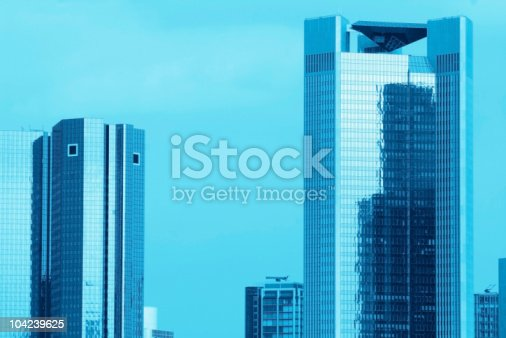 istock Blue Skyscrapers 104239625
