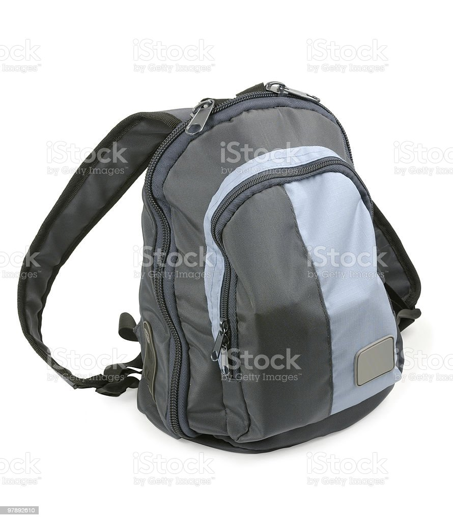 Blue Small Backpack Rucksack royalty-free stock photo