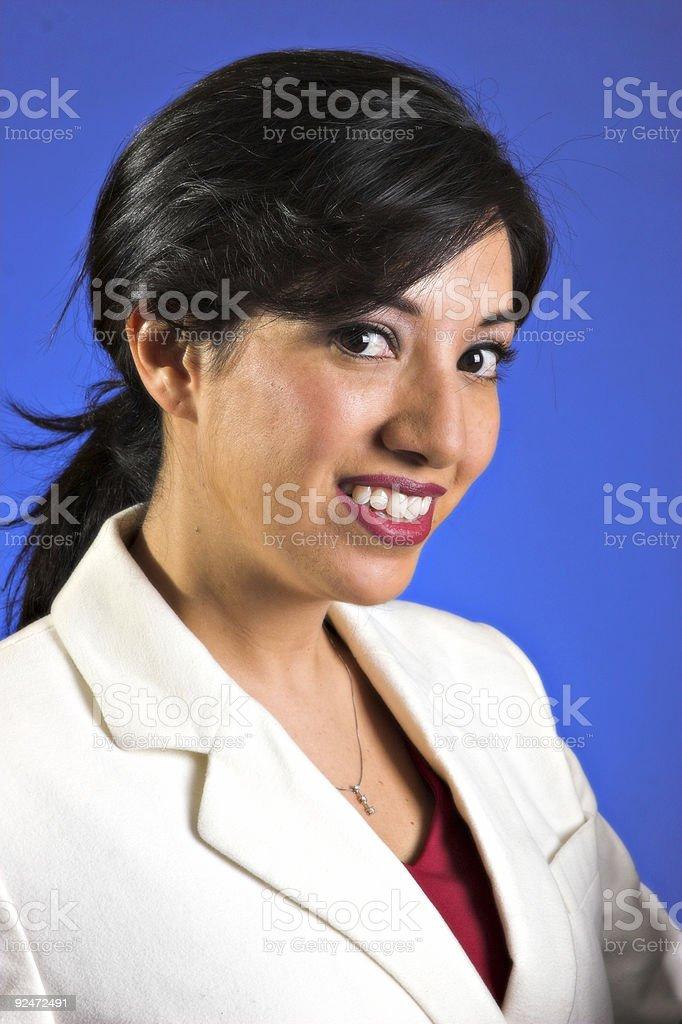 Blue Lächeln Lizenzfreies stock-foto