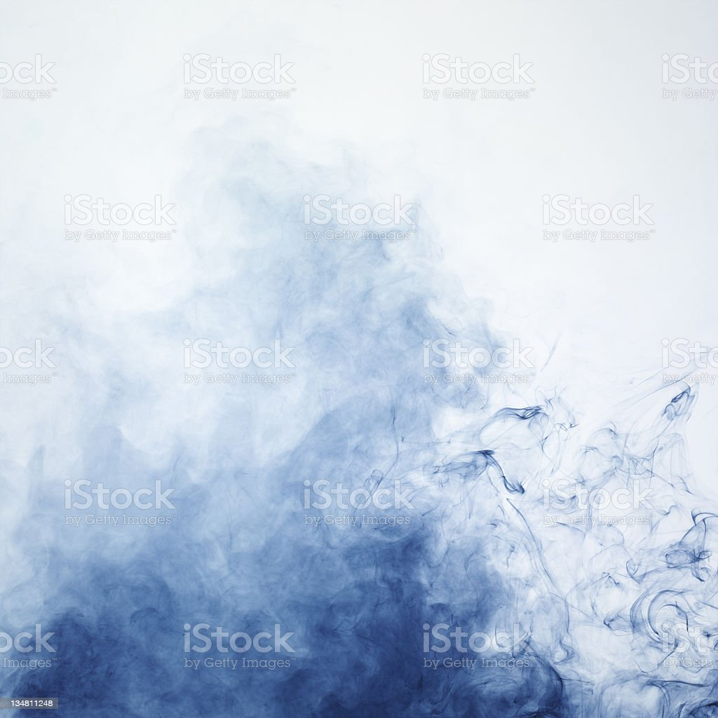Blue smoke 2 stock photo