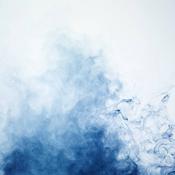 Blue smoke 2 stock photo