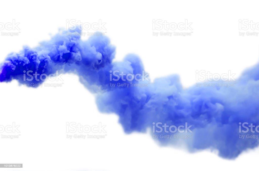 Humo azul - foto de stock