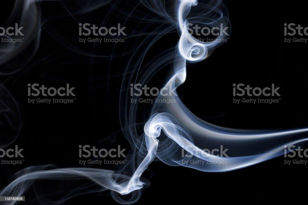 Blue smoke royalty-free stock photo