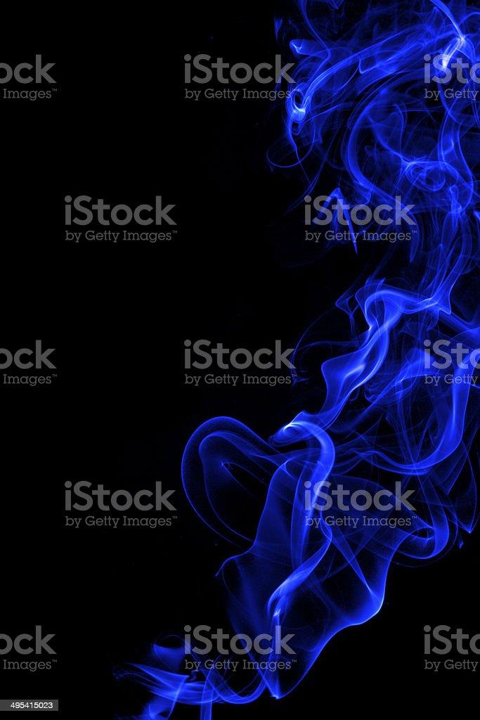 Blue Smoke stock photo
