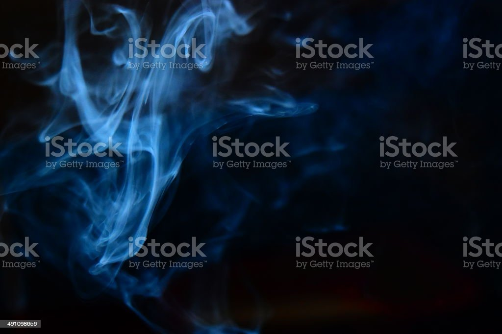 Blue Smoky Background Photograph stock photo