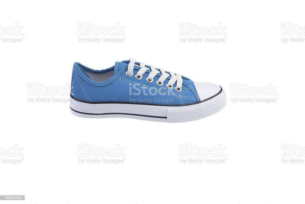 Blue Sneaker Shoe royalty-free stock photo
