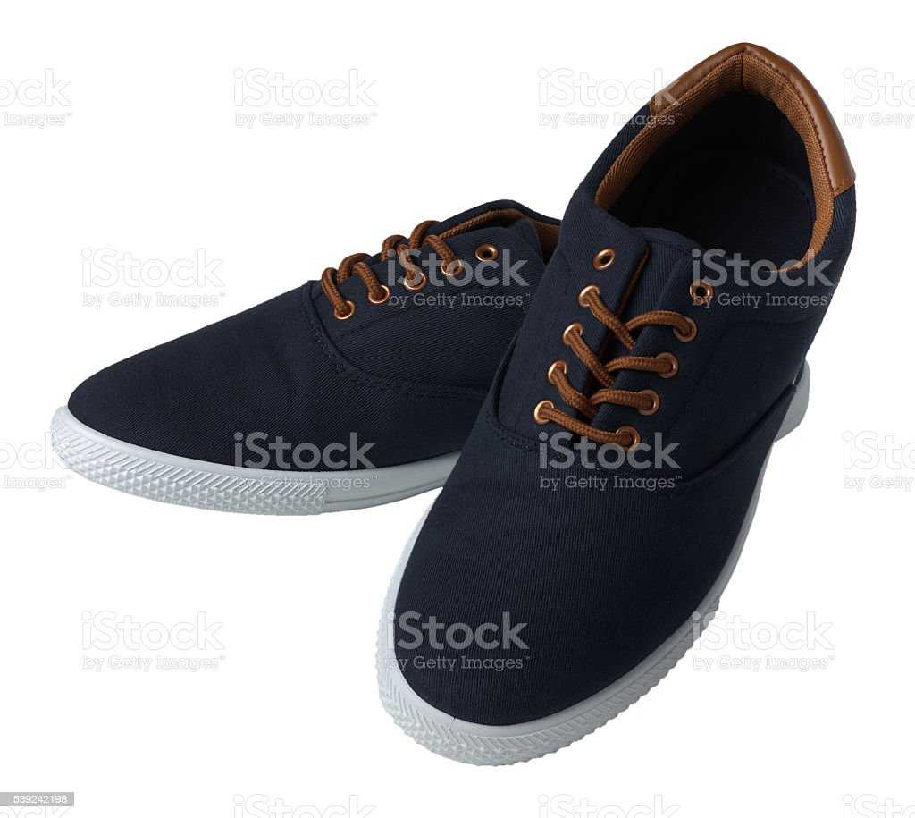 Blue sneakers isolated royalty-free stock photo