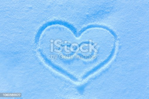 istock Blue snow, frosty morning. 1060585522