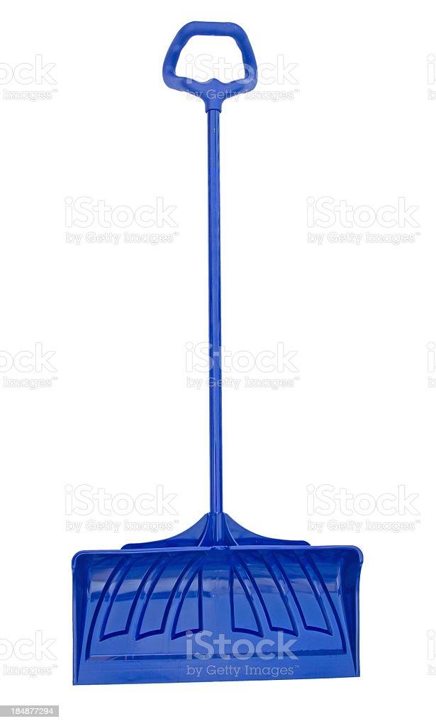 Blue Snow Shovel stock photo