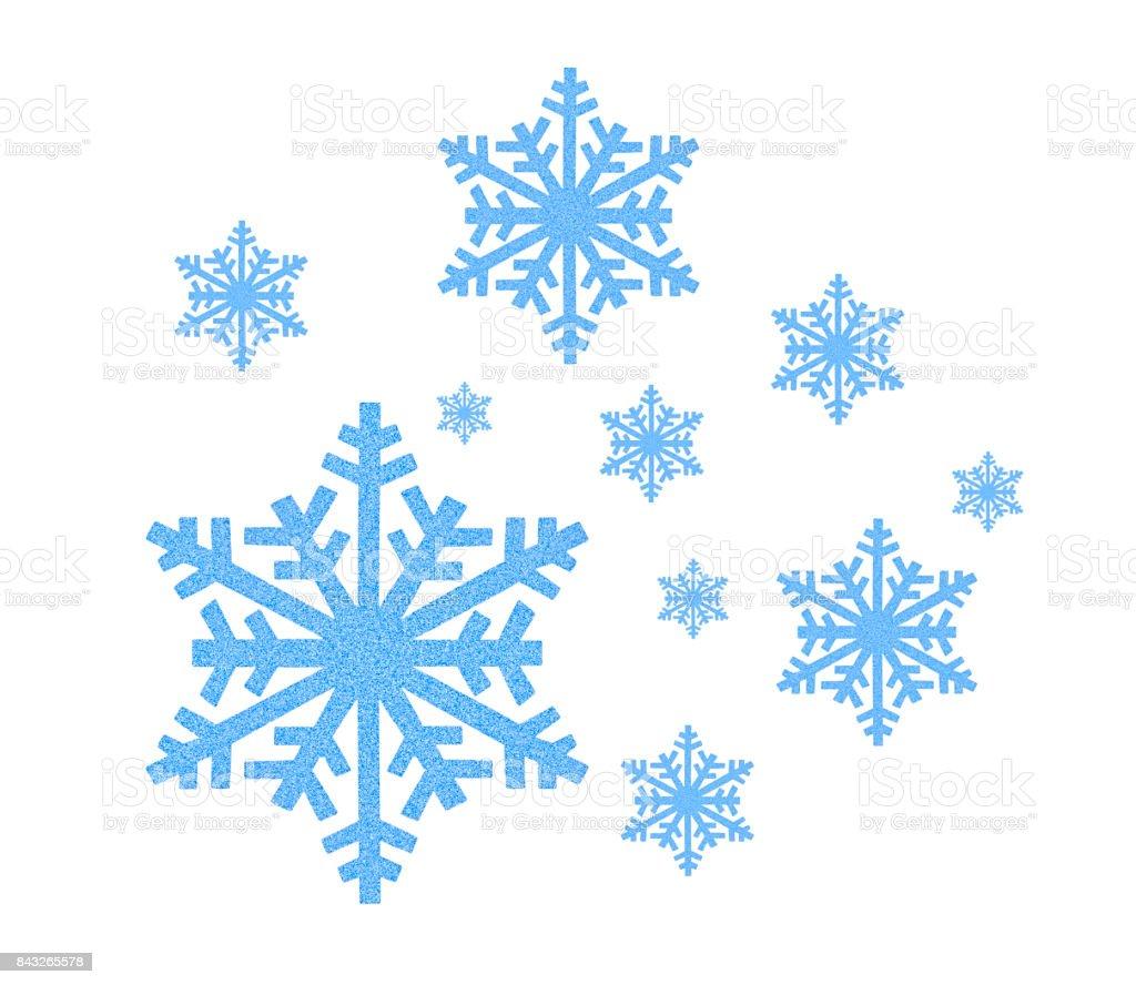 Blue Snowflake icon stock photo