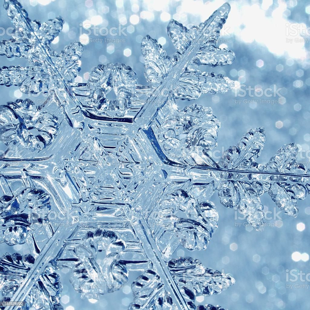 Blue Snowflake stock photo