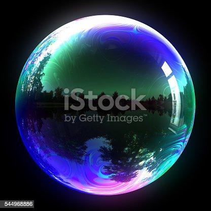 istock Blue Soap Bubble 544968886