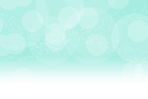 blue soap bubbles on blue background. - teal backgrounds stock photos and pictures