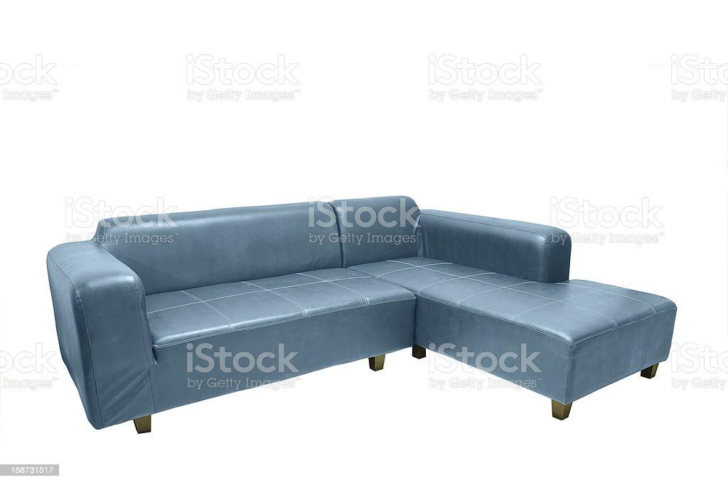 Blue sofa. royalty-free stock photo