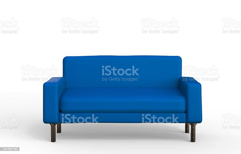 blue sofa stock photo