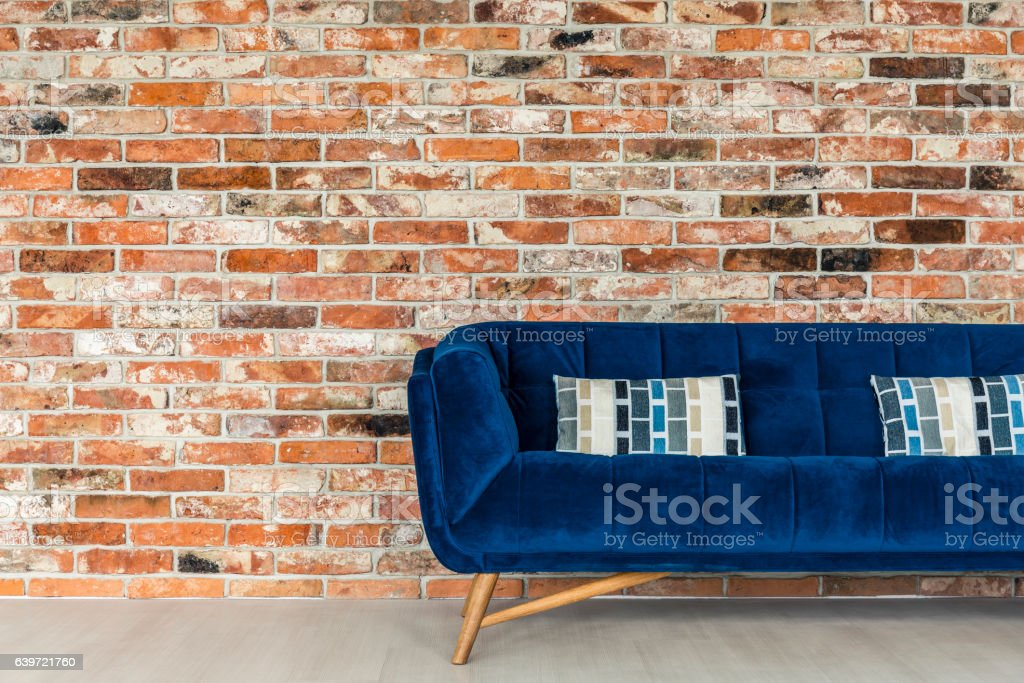 Image of: Blue Sofa With Decorative Pillows Stock Photo Download Image Now Istock