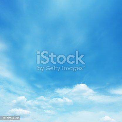 Blue soft cloud background