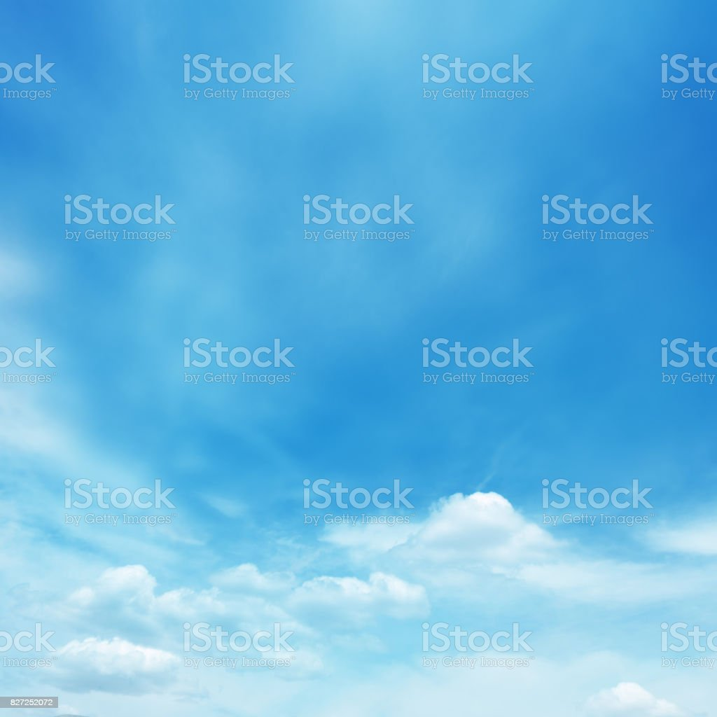 Blue soft cloud background stock photo